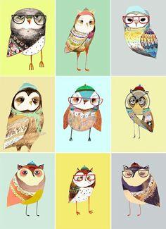 Cute owl illos