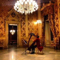 #Centrocontemporaneo 2/11/13 #Cstania suono D'arpa accoglie i visitatori dell'apertour a Palazzo Manganelli