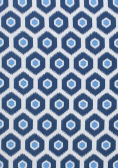 GEODE IKAT, Navy, W80372, Collection Calypso from Thibaut