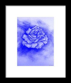 Celestial Rose Framed Print by Faye Anastasopoulou Sketch Ink, Pen And Wash, Cloud Shapes, Ocean Scenes, Bloom Blossom, Rose Frame, Paintings For Sale, Artist At Work, Designs To Draw
