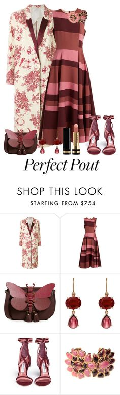 """""""She's a Peach:  Peach Lipstick"""" by shamrockclover ❤ liked on Polyvore featuring beauty, Forte Forte, Roksanda, Anya Hindmarch, Irene Neuwirth, Jimmy Choo, Karl Lagerfeld, Gucci and peachlipstick"""