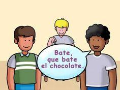 """Rima de chocolate"" - teach students a traditional Spanish rhyme"