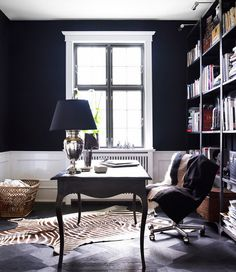sophisticated black office