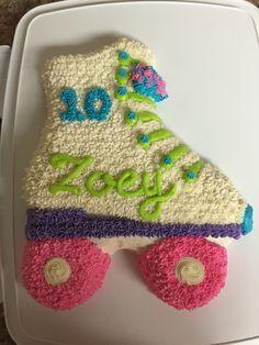 Roller skate cake 10 Birthday Cake, Girl Birthday Themes, Bday Girl, 10th Birthday, Birthday Ideas, Birthday Parties, Roller Skating Party, Skate Party, Roller Skate Cake