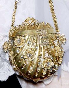 Valentino Garavani Women's Red Leather Rockstud Wristlet Clutch Bag Vintage Clutch, Vintage Purses, Vintage Handbags, Beaded Purses, Beaded Bags, Christian Lacroix, Unique Purses, French Fashion Designers, Shades Of Gold