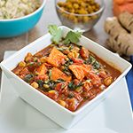 Forks Over Knives | Recipes yam, spinach and chickpea curry