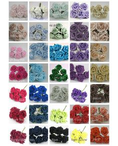 1 x Bunch of Colourfast Foam Roses - Florist Supplies for Wedding or crafts