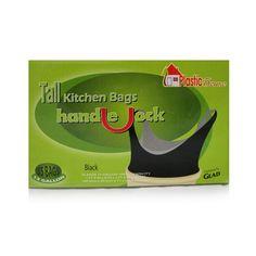 13 Gallon Handle Tie Black Bags 55/Pk 8 Packs/Sold As 440