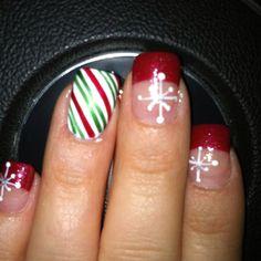 Christmas nails  Nail Art by @Carey Scott