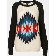 Topshop 'Eye Dazzler' Sweater ($84) ❤ liked on Polyvore
