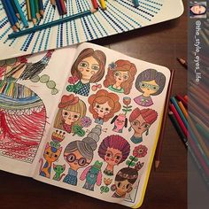Repost I How The Style Eyes Life Colored This Girly Page And Her Little One Also Coloring BooksLittle OnesDoodlesGirly