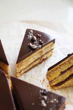 Hazelnut Opera Cake | cakelets and doilies | Bloglovin'