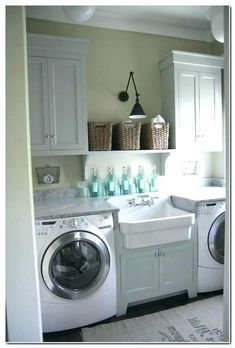 adding laundry room to basement, laundry room table ideas, practical small laundry room ideas Laundry Room Layouts, Laundry Room Remodel, Laundry Room Cabinets, Basement Laundry, Farmhouse Laundry Room, Small Laundry Rooms, Laundry Room Organization, Laundry Room Design, Basement House