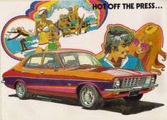 Here are most of the pages from a 1973 brochure on the various models of Australia's Holden Torana. Lots of car people drool over the big cars, but I am really attracted to the hot six cylinder models, like this and the Valiant Charger. Holden Torana, Holden Australia, Australian Cars, Australian Homes, Aussie Muscle Cars, Van Car, You're Hot, Car Advertising, First Car