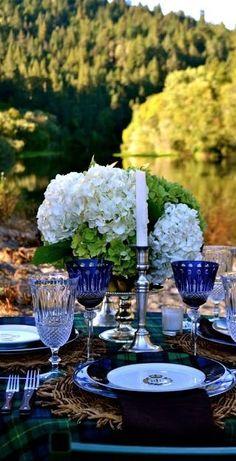 Exquisite outdoor dining....