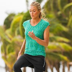 Pop Space Dye Top | Athleta