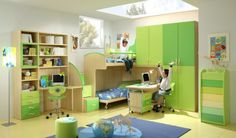 Gorgeous Lime Green Boys Room