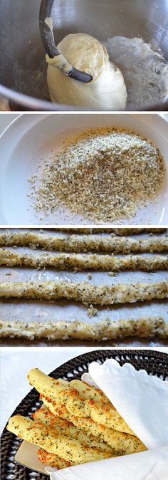 Easy French Cheese Garlic And Herb Breadsticks