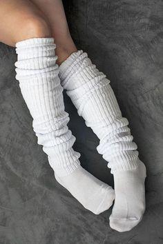 Socks by Sock Dreams » .Socks Special Collections » Scrunchy Socks » Schoolgirl Long Socks