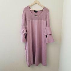 cedf9f335c6a Women's Dresses For Sale · NWT Lane Bryant 26/28 Light Purple 3/4 Ruffle  Sleeve Lightweight Sweater Dress