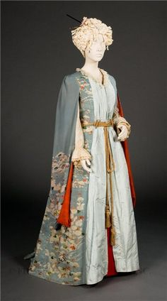 In black for Friar or Lady C(no black)  Front of silk Day dress, 1903, Japanese influence.