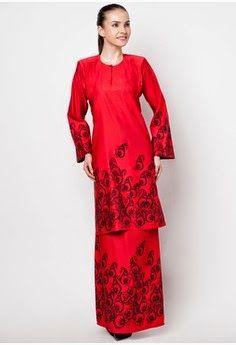 #baju #model #kurung #moden #red