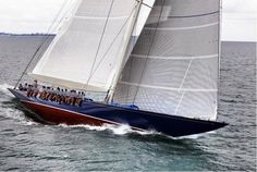 """Nautical Handcrafted Decor and Ship Models: Famous America's Cup J Class Yacht """"Endeavour"""""""