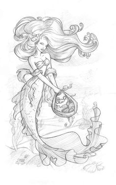 Morceau de la Mer by Amdhuscias on DeviantArt * Mermaid