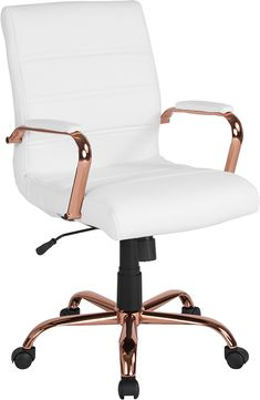 Room Decor Bedroom Rose Gold, Rose Gold Rooms, Room Ideas Bedroom, Bedroom Sets, Rose Gold Bedroom Accessories, Swivel Office Chair, Office Chairs, Office Furniture, Furniture Decor