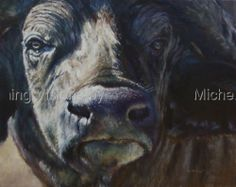 "Contemporary Painting - ""Mbogo"" (Original Art from Vanishing Visions by Michelle McCune, DVM)"