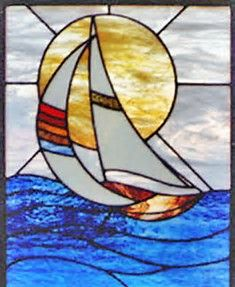 Image result for Sailboat Stained Glass Patterns