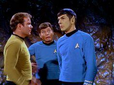 the face of Bones is priceless/ Star Trek