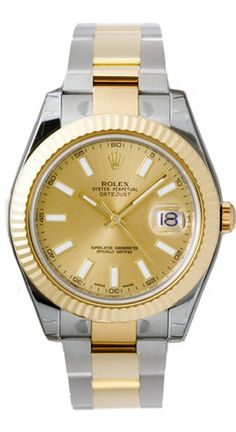 238c93f7ffc Rolex Datejust II Champagne Dial 18k Two Tone Gold Mens Watch. Gold
