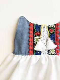 Image of Chambray Folk Dress