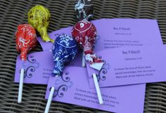 3 sweet treat ideas for handing out to children.  The Sweet Gospel Message -Vacation Bible School Idea - Mindy Peltier