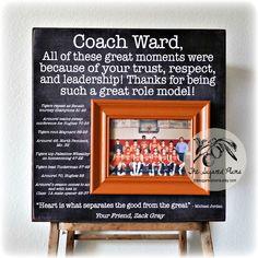coach gift soccer coach gift coach thank you gift coach frame