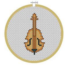 Free Violin, Musical Instrument Cross Stitch Pattern