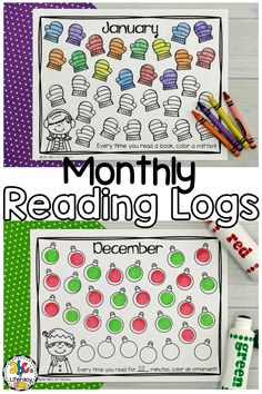 Are you looking for a way to encourage your students to read at home every night? These printable Monthly Reading Logs for kids can be used to motivate children to read independently. There are two different versions of reading logs. Your students can track the number of books or the minutes that they read every month. These reading logs are perfect for preschool, kindergarten, first grade, or in your homeschool. Click on the picture to learn more! #homework #readinglogs #monthlyreadinglogs
