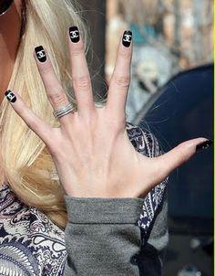 Heidi Montag's Chanel nails