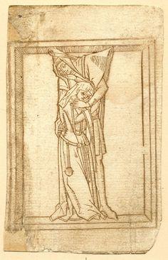 Grotesque alphabet. The unknown author, 1464.