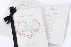 Personalized Wedding Programs - Beautiful Printed Wedding Books -  Wedding Stationery - PRINTED FOLDOVER PROGRAMS - Custom Wedding Programs #catchmyparty #wedding #partysupplies