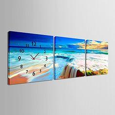 e-Home® waterval klok in canvas 3pcs - EUR € 27.26