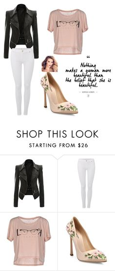 """Untitled #115"" by mirelazenunovic on Polyvore featuring 7 For All Mankind, ONLY and Giambattista Valli"