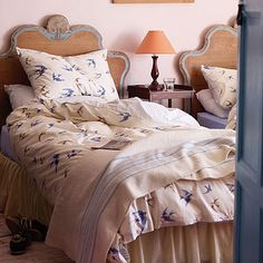 Blue Birds Luxury Duvet Set