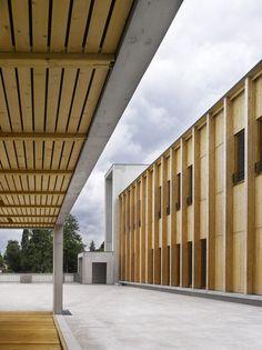 Bernard Quirot architecte + associés — Collège Lumière, timber cladding, educational