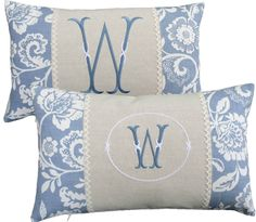 INITIAL MONOGRAM Embroidered Cushion Cover Clarke Eliza / L.Ashley Linen Bespoke: Visit http://www.ebay.co.uk/itm/121583028741?var=&ssPageName=STRK:MESELX:IT&_trksid=p3984.m1555.l2649
