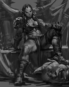 Orcs warrior woman.