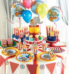 Stylish Baby First 1st Birthday Circus Party Plates, Cups, Napkins, Decorations #BirthdayChild