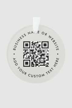 A simple custom gray QR code ornament template in a modern minimalist style which can be easily updated with your QR code, business name or website and custom text, eg. scan me to... #QRcode #christmas #decoration #business Pink Christmas Ornaments, Christmas Photo Cards, Christmas Ornament Template, How To Make Ribbon, Stationery Paper, Family Memories, Office And School Supplies, Love To Shop