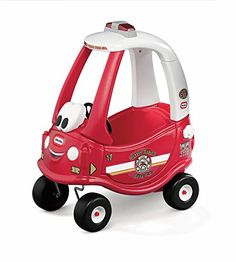 Your little firefighter's imagination will get going with this Little Tikes Ride & Rescue Cozy Coupe ride-on. Toddlers love this riding toy car's classic design and easy maneuverability. Perfect ind...
